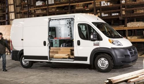 The 2016 Ram ProMaster full-size van is available in 15 different configurations, and offers both a chassis cab and cutaway from the factory. (PHOTO: FCA US)