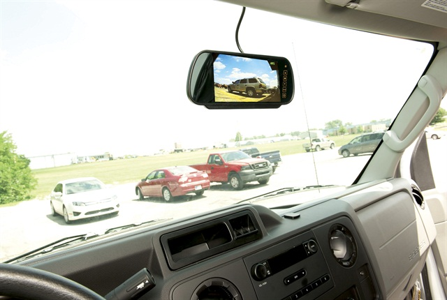 Convoy Technologies' Rear-view Monitor System helps drivers stay safe as they navigate parking lots and other environments.