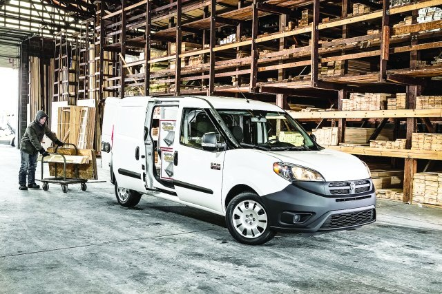The Ram ProMaster City cargo models offer a load compartment with a cargo volume of 131.7 cubic feet and a cargo width of 60.4 inches. (PHOTO: RAM TRUCKS)