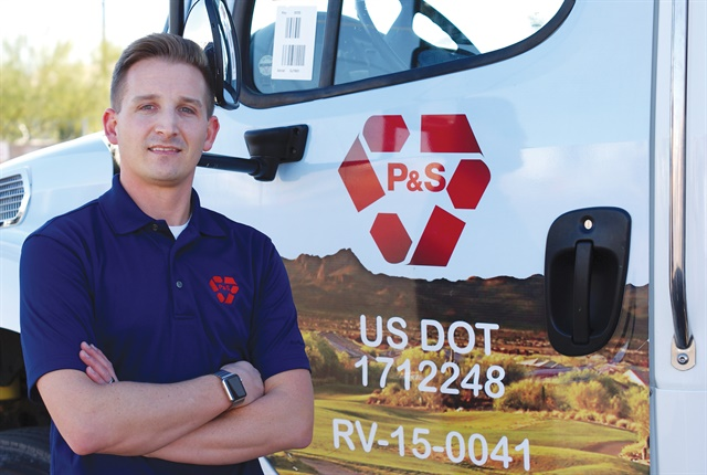 Parks and Sons of Sun City, Inc. is a family-owned waste and recycle hauling company that has a fleet of nearly 100 vehicles and has operated in Sun City, Arizona for over 50 years. Telematics data saved the company $150,000 after the first year. Photo courtesy of Parks and Sons of Sun City, Inc.