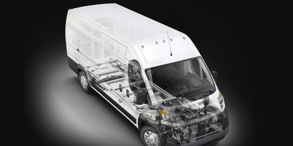 The ProMaster is available with two roof heights: 90 or 101 inches.