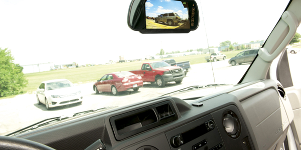 Convoy Technologies' Rear-view Monitor System helps drivers stay safe as they navigate parking...