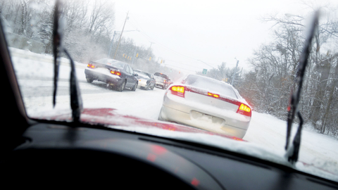 One step drivers can take in inclement winter weather is to allow for more following distance...