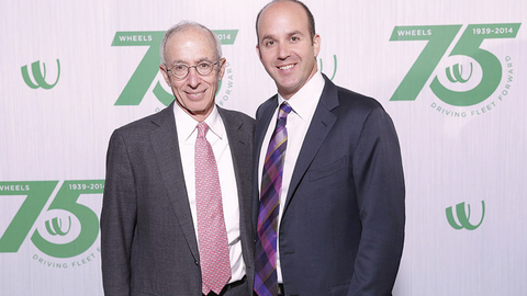 Dan Frank (right) becomes only the third Wheels president since it was founded in 1939 by Zollie...