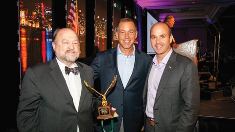 Dan Frank (right) along with Bobit Business Media Group Publisher Sherb Brown (center)...