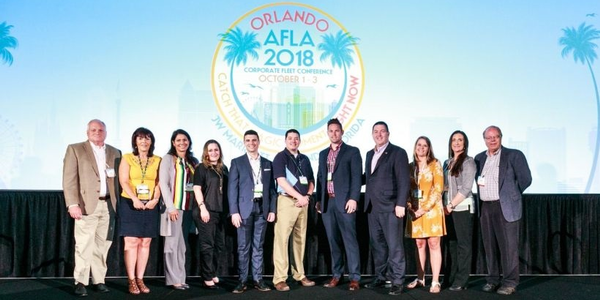 Last year's Fleet Visionary recipients, accepting their honor at the AFLA 2018 conference, are...