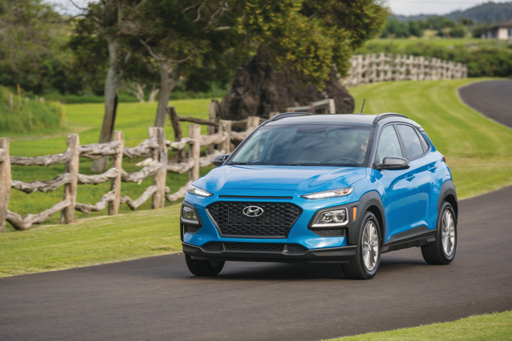 The Hyundai Kona was released in 2018 and is the company's first entry into the subcompact SUV segment, at one of the lowest starting prices of the segment. The vehicle provides an agile ride and good fuel economy.  - Photo courtesy of Hyundai