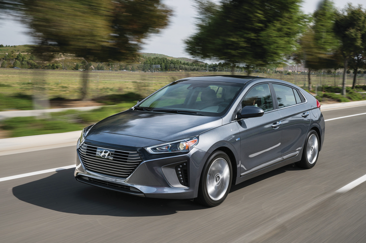 The Hyundai Ioniq is available in a hybrid, plug-in hybrid, and all-electric option. Hyundai offers five alternative-fuel options spread across its Ioniq and Sonata models. In the compact and mid-size sedan segments, Hyundai offers five models from which fleet managers can choose.  - Photo courtesy of Hyundai