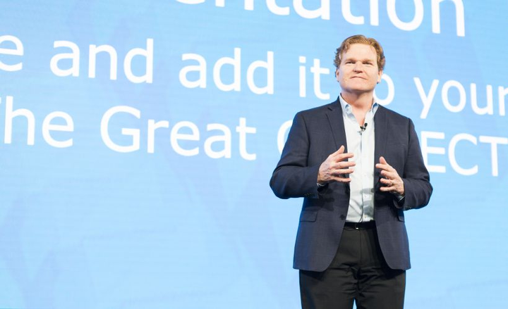 Colin Sutherland, Geotab's executive vice president of sales and marketing, spokeaboutvehicle security, connected vehicles, and smart cities at Geotab Connect 2018.  - Photo courtesy of Geotab.