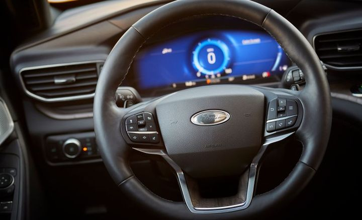 Reworked steering-wheel controls help drivers avoid distraction.  - Photo courtesy of Ford.