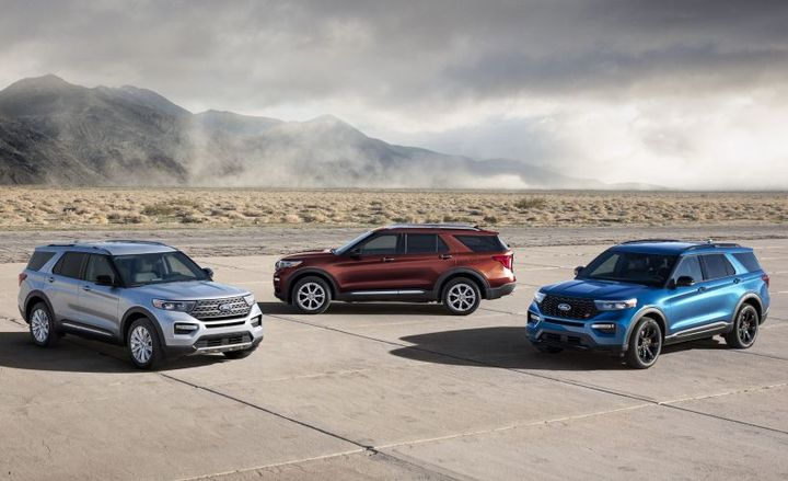 Ford is adding two models to its Explorer lineup for 2020, including a gasoline-electric hybrid and performance variant.  - Photo courtesy of Ford.
