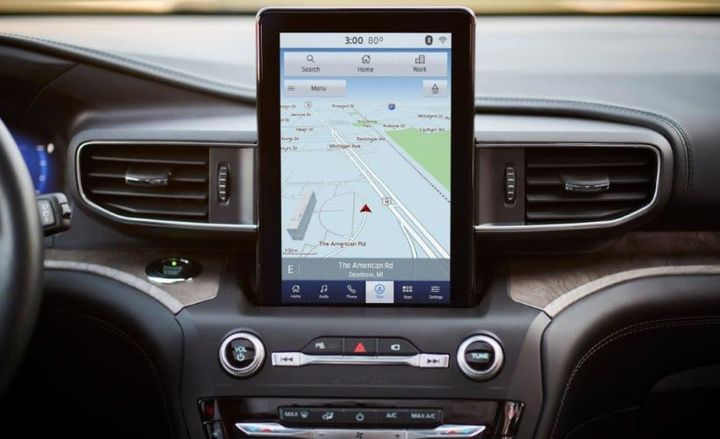 New technology, including an optional 10.1-inch tablet-style screen, enhances safety and connectivity.  - Photo courtesy of Ford.