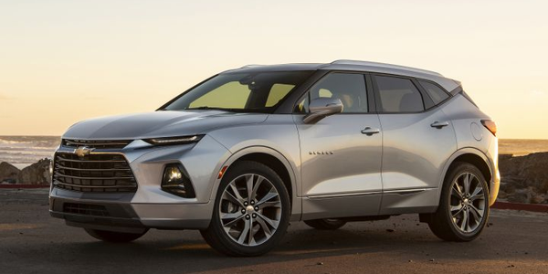 The 2019 Chevrolet Blazer slots between the Equinox and Traverse.