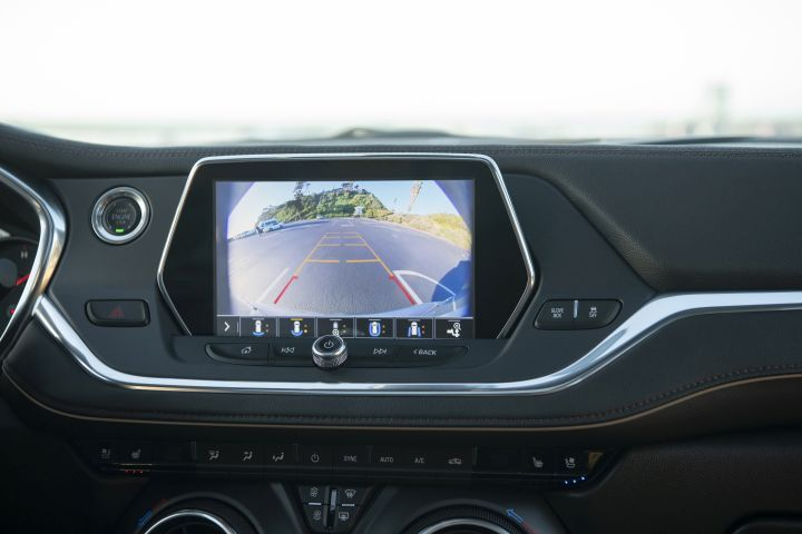 Here's a closer look at the rear-view camera.