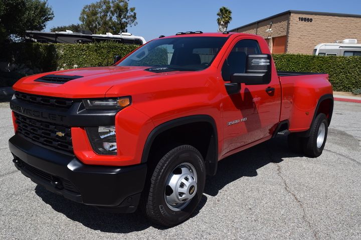 Depending on the configuration the Silverado 3500 will be able to tow up to 35,500 pounds, when the gooseneck is included, and is also available as a 6.6L gasoline engine that will achieve 401 hp and 464 lb.-ft. of torque. - Photo: Andy Lundin