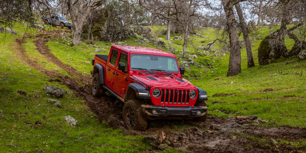 The 2020 Jeep Gladiator is a 4x4 midsize pickup truck available in a soft top and two hardtop...
