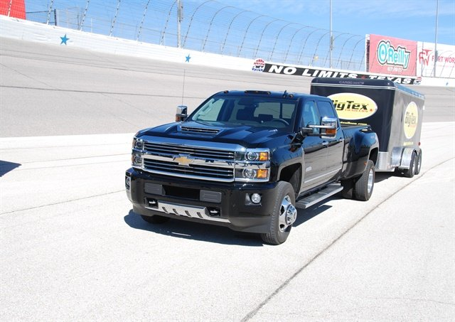The Silverado HD shined in the towing challenge. Photo: Chris Wolski