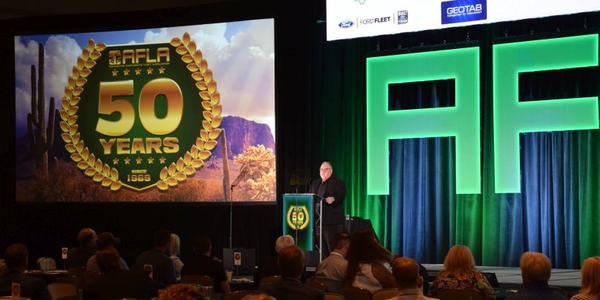 Dave Durepo, president of AFLA, speaks during the final day of the 2019 AFLA annual corporate...