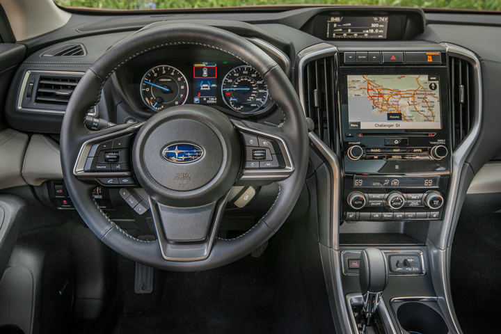 The Subaru Ascent features a 6.5- or 8-inch touchscreen and comes standard with Apple CarPlay and Android Auto integration.