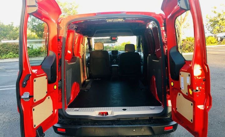 The 2019 Transit Connect cargo van has 103.9 cubic feet of cargo volume in short-wheelbase model and 128.6 cubic feet for the long wheelbase model. - Photo by Mike Antich.