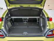 With the rear seats folded down, the 2018 Hyundai Kona offers 45.8 cubic feet of cargo space....