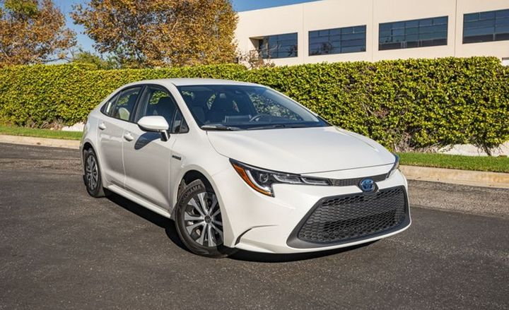 The Corolla Hybrid LE is equipped with Toyota's Safety Sense 2.0, which offers a pre-collision system with pedestrian detection; automatic high beams; dynamic radar cruise control; lane departure alert and lane tracing assist. - Photos by Kelly Bracken.