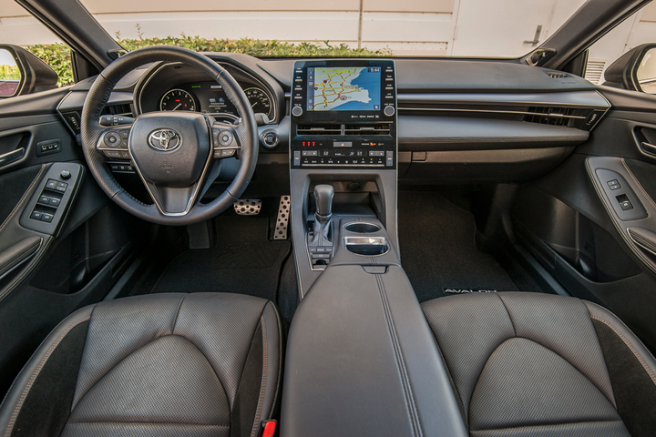 The 2019 Avalon's newinfotainment system features Entune Audio 3.0 with connected navigation and Apple CarPlay that display on a 9-inch touchscreen.  - Photo by Kelly Bracken.