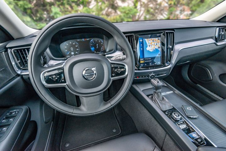 The 2020 S60 provides drivers a 9-inch color touchscreen for infotainment control.  - Photo by Kelly Bracken.
