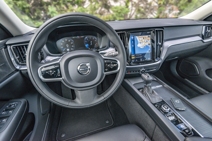 The 2020 S60 provides drivers a 9-inch color touchscreen for infotainment control.