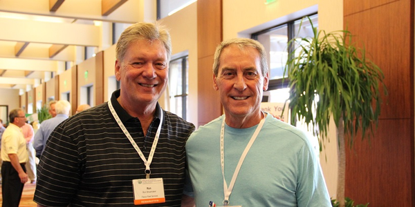 """Richard """"Dick"""" L. Malcom (right), with longtime friendRon Shoemaker at 2013 AFLA Conference."""