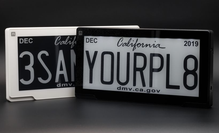 Arizona has authorized the use of digital license plates, which have already been approved in California, Texas, Florida, and Michigan.  - Photo courtesy of Reviver Auto.