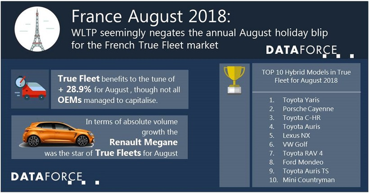 Renault was the leading brand for fleet registrations in the country, which has held the top spot for four months in a row.
