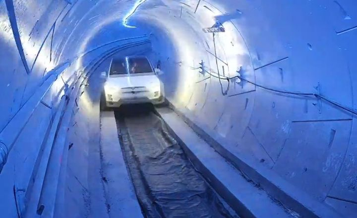 Elon Musk's The Borning Company has opened a 1.14-mile transportation tunnel in Los Angeles.