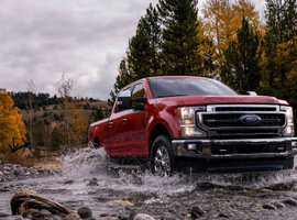 The all-new Ford-designed and Ford-built 7.3L V-8 joins the standard 6.2L V-8 in Super Duty's gasoline engine lineup. The Ford-designed and Ford-built third-generation 6.7L Power Stroke diesel V-8 is upgraded to deliver more power and torque.