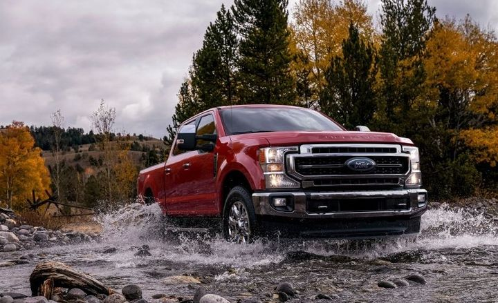 The all-new Ford-designed and Ford-built 7.3L V-8 joins the standard 6.2L V-8 in Super Duty's gasoline engine lineup. The Ford-designed and Ford-built third-generation 6.7L Power Stroke diesel V-8 is upgraded to deliver more power and torque. - Photo courtesy of Ford.