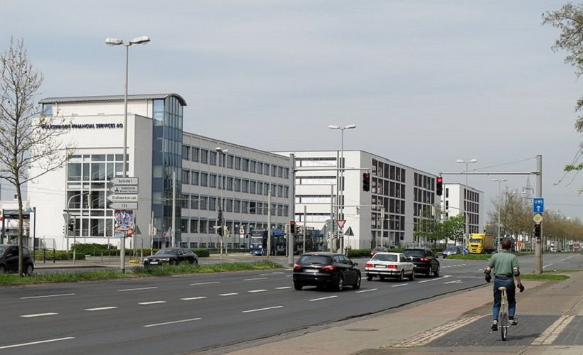 Following the strategic realignment, there are plans to transfer the business of CarMobility GmbH, a wholly-owned subsidiary of Volkswagen Financial Services AG, to Fleet Logistics  - Photo of the Volkswagen Financial Services headquarters courtesy of TeWeBs via Wikimedia Commons. Attribution-ShareAlike 3.0 Unported (CC BY-SA 3.0)