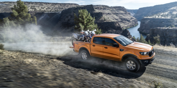 Ford's 2019 Ranger midsize pickup will be able to tow 7,500 pounds.