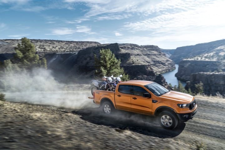 Ford's 2019 Ranger midsize pickup will be able to tow 7,500 pounds.  - Photo courtesy of Ford Motor Co.