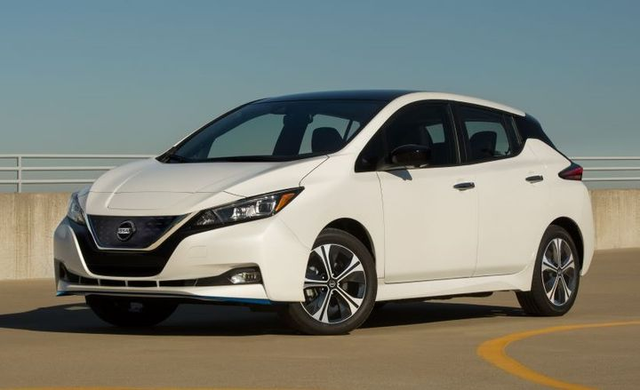 Nissan issued a recall for certain 2020 Nisan Leaf electrics vehicles (EVs). Under certain circumstances, the images for the back-up camera can disappear while in reverse. - Photo: Nissan