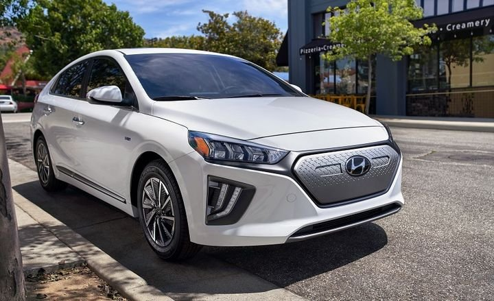 Notable enhancements for the 2020 Ioniq include the increased driving ranger from 124 miles to 170 miles, as well as the battery pack's capacity increasing from 28 kWh to 38.3 kWh. - Photo courtesy of Hyundai.