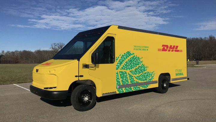 DHL Express Americas, one of the fleet members of The Corporate Electric Vehicle Alliance, is using electric vehicles like this one to meet its goal of net zero emissions from transport activities by 2050 globally.