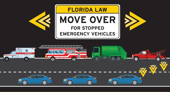 In 2019, there were 182 collisions and over 20,000 citations issued for motorists who failed to move over, according to preliminary data from the Florida Department of Highway Safety and Motor Vehicles. - Image via Florida Highway Safety and Motor Vehicles.