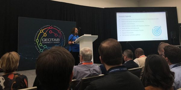 Sherry Calkins, VP, strategic partners at Geotab spoke on the Geotab Integrated Solution for...