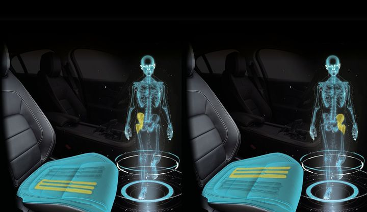 The seats will feature micromovements on the left and right side in order to make the driver's brain believe the driver is walking.  - Photo courtesy of Jaguar Land Rover.
