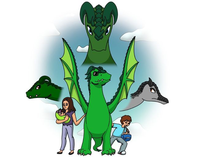 The cover of Steve Dragon's Book, Were You Born a Dragon? - Image courtesy of Steve Dragon.