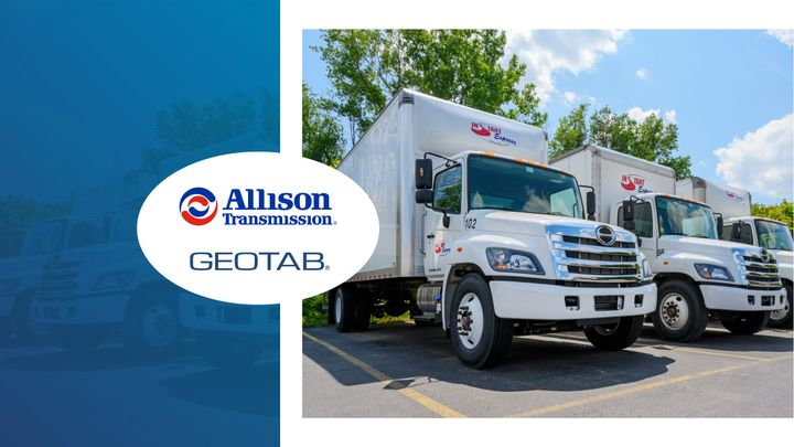 Allison Connected Services is designed to help extend the performance and safety of medium and heavy-duty commercial vehicles. - Graphic courtesy of Geotab.