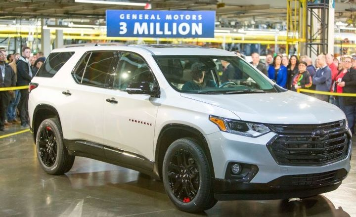 The 2020 Chevrolet Traverse produced was the Premier Redline Edition in Silver Ice Metallic, which was located in Lansing, Michigan at the automaker's newest assembly plant in the United States. - Photo courtesy of GM.