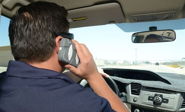The new law prohibits drivers from virtually all cell phone use while driving. Cell phone use is banned even while motorists are stopped at red lights or waiting in traffic. - Photo courtesy of U.S. Air Force photo by Melissa Buchanan