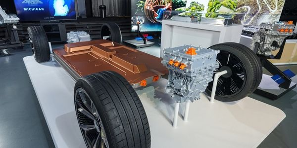 General Motors reveals its all-new modular platform and battery system, Ultium, at the Design...