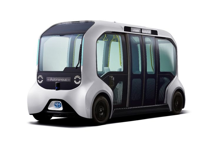 In late 2019 Toyota annoucned that it would be supplying 20 specially-designed Tokyo 2020 versions of its E-Pallet vehicles. These vehicles will provide automated, loop-line transportation for the athletes in the Olympic and Paralympic villages.  - Photo courtesy of Toyota.